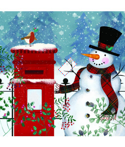 Snowman's Post - Large Christmas Card Pack