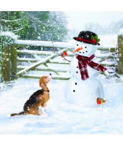 Snowman's Buddy - Small Christmas Card Pack