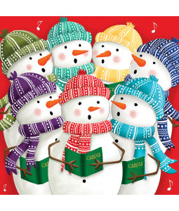 Snowman Carols - Small Christmas Card Pack