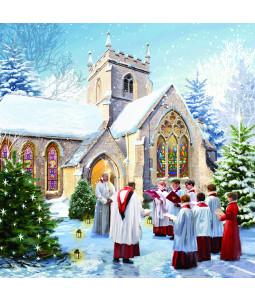 Merry Christmas Choir - Small Christmas Card Pack