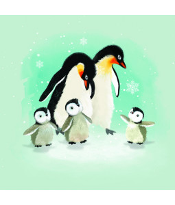 Penguin Family - Small Christmas Card Pack