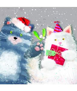 Mistletoe Cats - Small Christmas Card Pack