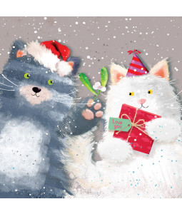 Mistletoe Cats - Large Christmas Card Pack