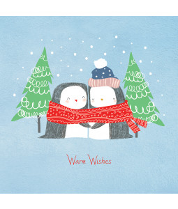 Cute Penguins - Small Christmas Card Pack