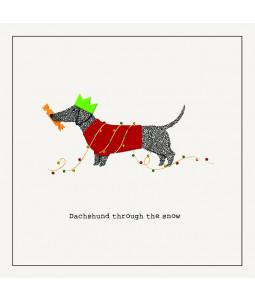 Dachshund - Large Christmas Card Pack