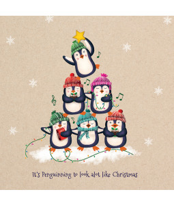 Penguin Tree - Small Christmas Card Pack