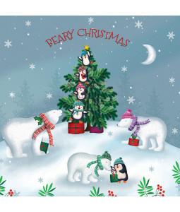 Fun Around the Tree - Small Christmas Card Pack