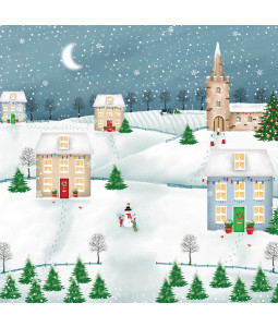 Festive Village - Small Christmas Card Pack