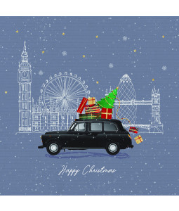 London Taxi - Large Christmas Card Pack