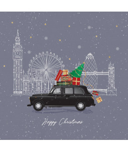 London Taxi - Small Christmas Card Pack