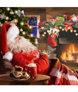 Snoozing Santa - Small Christmas Card Pack