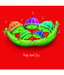 Peas and Joy - Small Christmas Card Pack