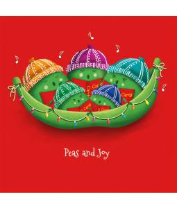 Peas and Joy - Small Christmas Card Pack