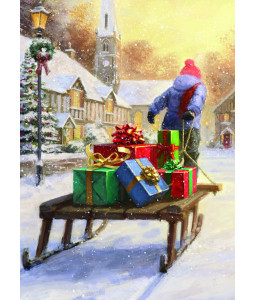 Delivering Presents - Christmas Card Pack