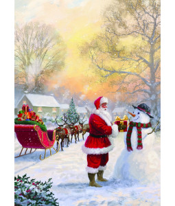 Santa in the Village - Christmas Card Pack
