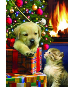 Cute Pup and Kitten - Christmas Card Pack