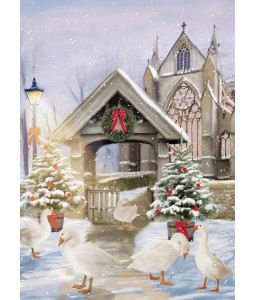 Geese at Church - Christmas Card Pack