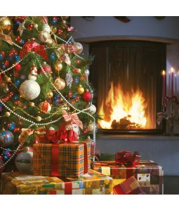 Christmas Fireplace - Large Christmas Card Pack