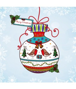Colourful Bauble - Large Christmas Card Pack