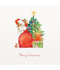 Cute Presents Under the Tree - Small Christmas Card Pack