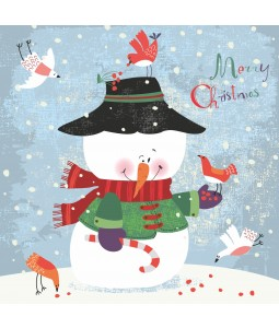 Snowman and Birds - Large Christmas Card Pack