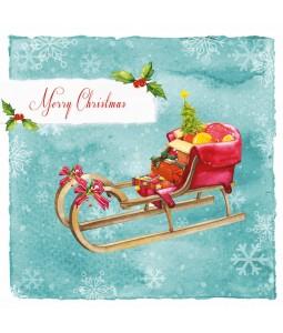 Christmas Sledge - Small Christmas Card Pack
