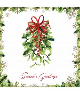 Festive Mistletoe - Small Christmas Card Pack