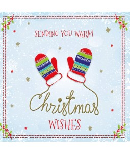 Christmas Mittens - Large Christmas Card Pack