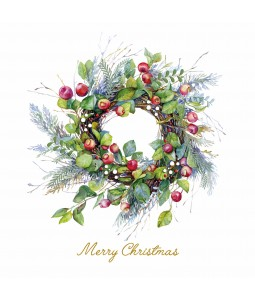 The Berry Wreath - Large Christmas Card Pack