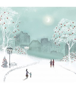 Evening Walk - Large Christmas Card Pack