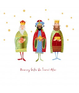 A religious Christmas card pack with the 3 Kings bearing gifts.