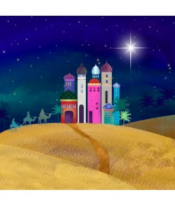 City in the Desert - Large Christmas Card Pack