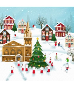 A Christmas card pack with a Church scene