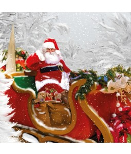 A Christmas card pack with Santa in his sleigh