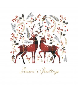 A Christmas card pack with two beautiful Tarten Deer