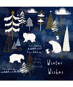 A Christmas card pack with a Polar Bear and Rabbit