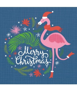 Festive Flamingo - Small Christmas Card Pack