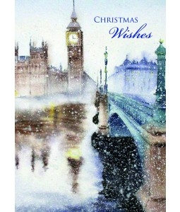 A Christmas card pack with a painted picture of Big Ben