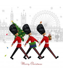 A Christmas card pack with the guards from Buckingham Palace