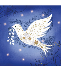 Lustre Dove - Large Christmas Card Pack