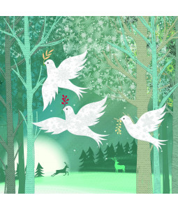 Three Doves - Small Christmas Card Pack