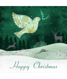 Happiness Dove - Large Christmas Card Pack