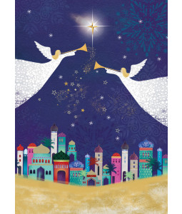 Silent Night Angels - Christmas Card Pack (
