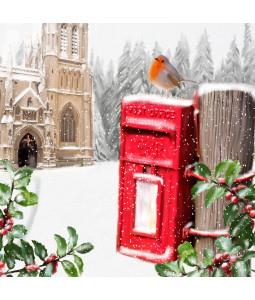 Sunday Robin - Small Christmas Card Pack