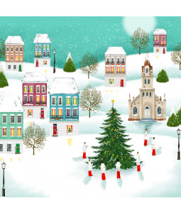 Village Church - Large Christmas Card Pack