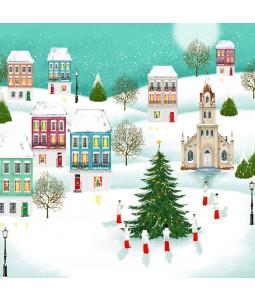 Village Church - Small Christmas Card Pack