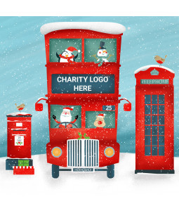 Santa's Bus- Large Personalised Christmas Card Pack