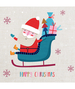 Happy Santa - Small Christmas Card Pack