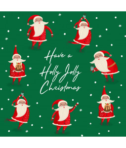 Holly Jolly Santa - Small Christmas Card Pack
