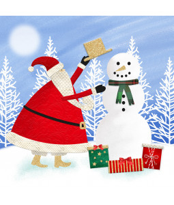 Snowman's Hat - Large Christmas Card Pack